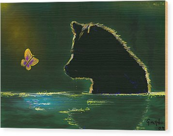 Butterfly Lullaby Wood Print by J Griff Griffin