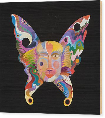 Butterfly Mask Wood Print by Bob Coonts