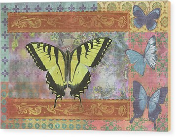 Butterfly Mosaic Wood Print by JQ Licensing