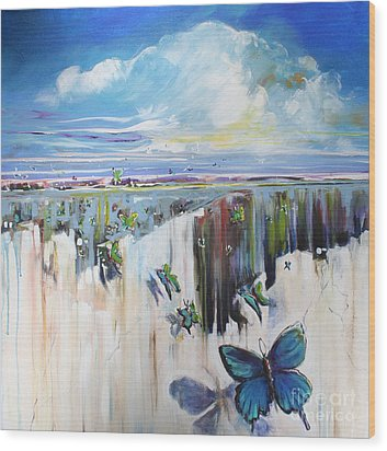 Butterfly Wood Print by Michele Hollister - for Nancy Asbell