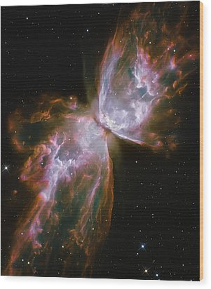 Butterfly Nebula Wood Print