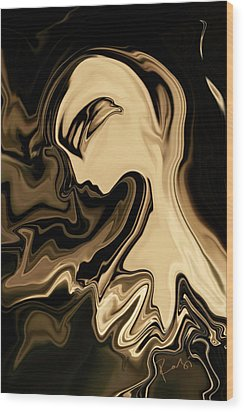 Wood Print featuring the digital art Butterfly Princess by Rabi Khan
