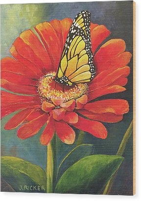 Butterfly Rest Wood Print