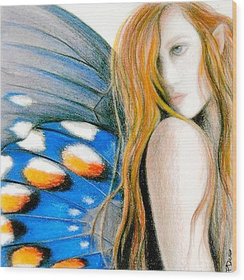 Butterfly Rush Take1 Wood Print by Patricia Ann Dees
