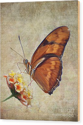 Wood Print featuring the pyrography Butterfly by Savannah Gibbs