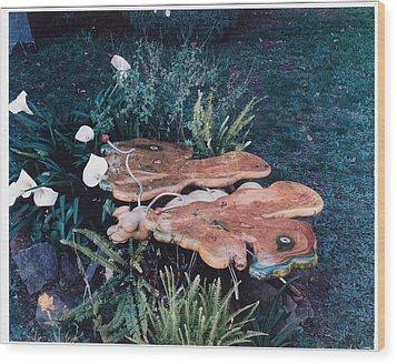 Butterfly Table Wood Print by Lionel Larkin
