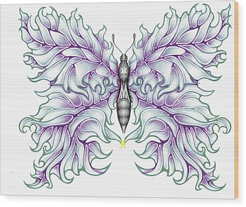 Butterfly Tattoo 2 Wood Print by Karen Musick