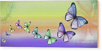 Butterfly Trail 2 By Kaye Menner Wood Print by Kaye Menner