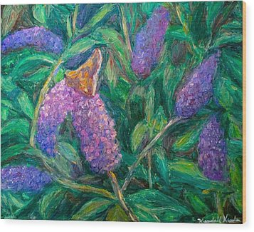 Wood Print featuring the painting Butterfly View by Kendall Kessler