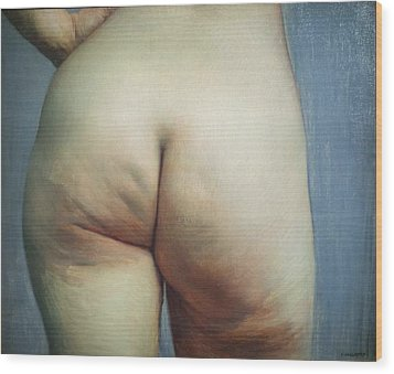 Buttocks And Left Hand On Hip Wood Print