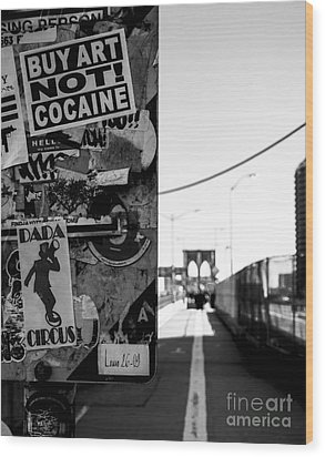 Buy Art Not Cocaine Wood Print by James Aiken