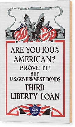 Buy U.s. Government Bonds Wood Print by War Is Hell Store
