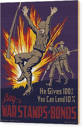 Buy War Stamps And Bonds Wood Print by War Is Hell Store