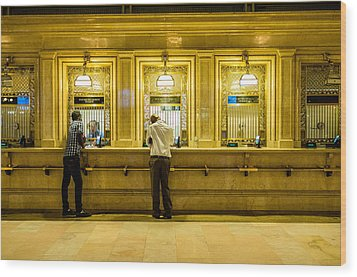 Wood Print featuring the photograph Buying A Ticket by M G Whittingham