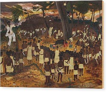 Bwa Kayiman Haiti 1791 Wood Print by Nicole Jean-Louis