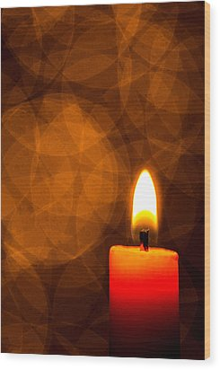 By Candle Light Wood Print