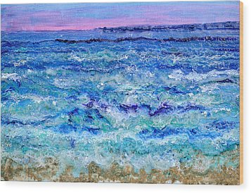 By The Beautiful Sea Wood Print by Regina Valluzzi