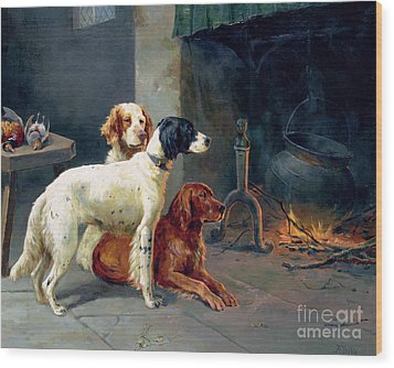 By The Fire Wood Print by Alfred Duke