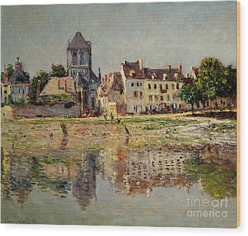 By The River At Vernon Wood Print by Claude Monet
