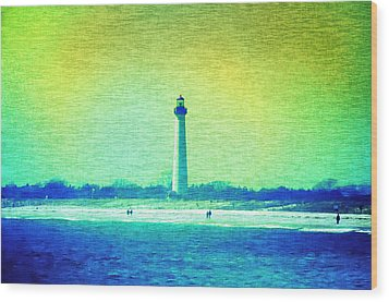 By The Sea - Cape May Lighthouse Wood Print by Bill Cannon