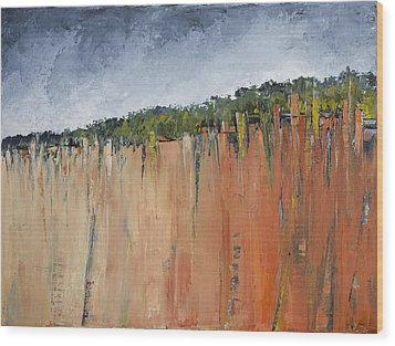 By The Sea Wood Print by Carolyn Doe