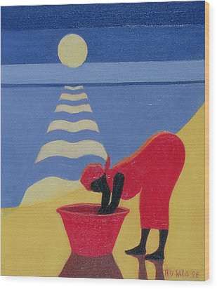 By The Sea Shore Wood Print by Tilly Willis