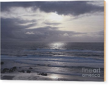 By The Silvery Light Wood Print by Sheila Ping