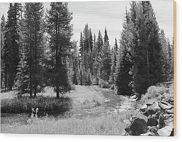 Wood Print featuring the photograph By The Stream by Christin Brodie