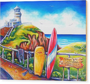 Byron Bay Lighthouse Wood Print