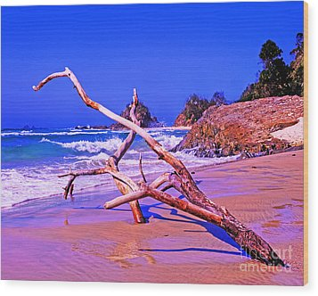 Byron Beach Australia Wood Print by Chris Smith