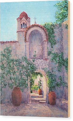 Byzantine Archway Wood Print by Jill Musser