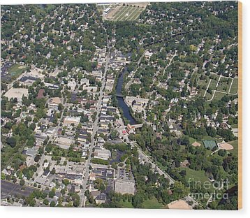 Wood Print featuring the photograph C-011 Cedarburg Wisconsin by Bill Lang