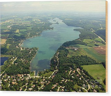 Wood Print featuring the photograph C-014 Cedar Lake Big Wisconsin by Bill Lang