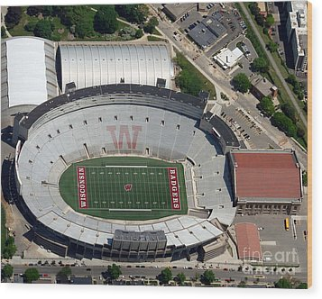 Wood Print featuring the photograph C-019 Camp Randall Stadium by Bill Lang