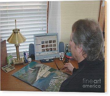 C-020 Chain O Lakes Waupaca Wisconsin Fall Wood Print