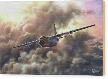 C-130 Hercules Wood Print by Dave Luebbert