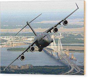 C-17 Charleston Wood Print by Aviation Heritage