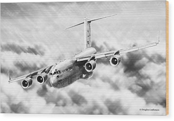C-17 Wood Print by Douglas Castleman