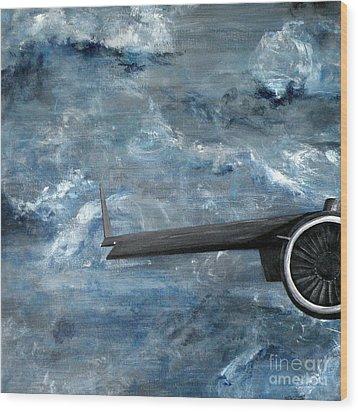 C-17 Globemaster IIi- Panel 1 Wood Print by Holly York