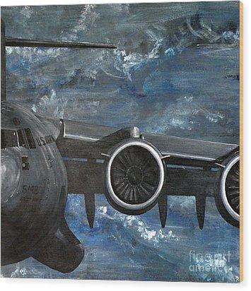 C-17 Globemaster IIi- Panel 3 Wood Print by Holly York