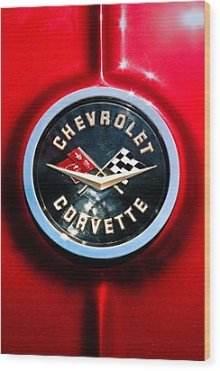 C2 Corvette Logo Wood Print by Scott Wyatt