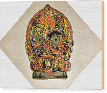C3po Star Wars Afrofuturist Collection Wood Print