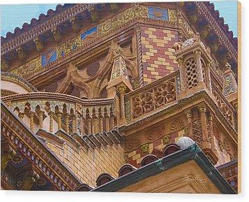 Ca' D'zan Detail Wood Print
