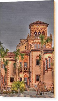 Wood Print featuring the photograph Ca Dzan Mansion South by John Knapko