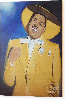 Cab Calloway In Color Wood Print by Chelle Brantley