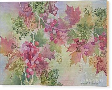 Cabernet Wood Print by Deborah Ronglien