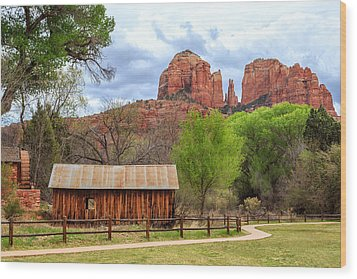 Wood Print featuring the photograph Cabin At Cathedral Rock by James Eddy