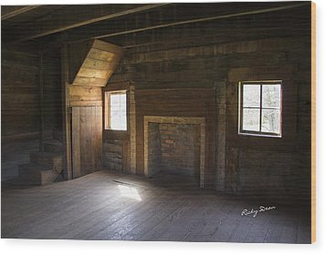 Cabin Home Wood Print