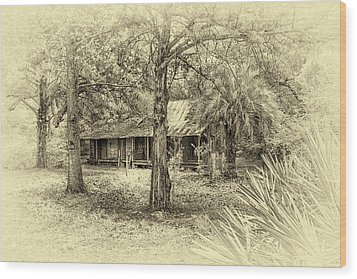 Wood Print featuring the photograph Cabin In The Woods by Louis Ferreira