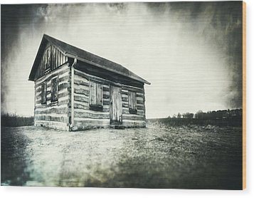 Cabin Near Paradise Springs - Kettle Moraine State Forest Wood Print by Jennifer Rondinelli Reilly - Fine Art Photography